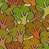 Векторный клипарт: Яркий бесшовный фон с деревьями в простой