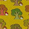 Векторный клипарт: Яркий бесшовный фон с деревьями и