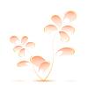 Векторный клипарт: Розовый цветок в стиле Гжель. Vecto