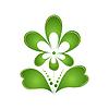 Векторный клипарт: Зеленый цветок. Логотип. Защита т