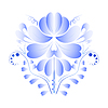 Векторный клипарт: Национальный русский голубой цветок. ГЖ