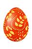 Векторный клипарт: Пасха красное яйцо с золотым растительным орнаментом.