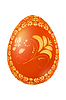 Векторный клипарт: Пасха красное яйцо с русской традиционной желтый