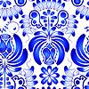 Векторный клипарт: Бесшовные текстуры с цветами. Цветы ГЖ