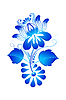 Векторный клипарт: элемент дизайна цветочный орнамент в стиле Гжель. Illu