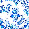 Векторный клипарт: Бесшовные текстуры с бабочками и цветочными