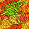 ID 4608653   Seamless texture with ornament of bird feathers in   Klipart wektorowy   KLIPARTO