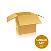 Open cardboard box. illustratio | Stock Vector Graphics
