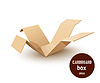 Break paper cardboard box | Stock Vector Graphics