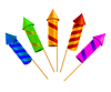Set of bright festive crackers. ill | Stock Vector Graphics