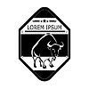 Logo, label buffalo, bull . Design badge for your | Stock Vector Graphics