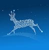 Векторный клипарт: синий олень