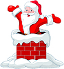 Weihnachtsmann Springen von Kamin