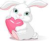 Kaninchen hält Liebe Herz