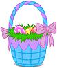 Osterkorb ,ot Eiern