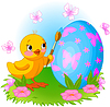 Huhn ist die Malerei Osterei