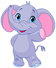 귀여운 코끼리 | Stock Vector Graphics