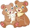 Векторный клипарт: Братья Медведь