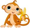 Lustiger Affe mit Banane