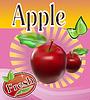Векторный клипарт: Сок из свежих яблок Баннер