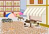 Векторный клипарт: Вектор уличных кафе в городе