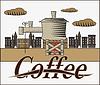 Vektor Banner mit Kaffee