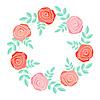 Векторный клипарт: Розы кадра