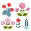 Векторный клипарт: цветочные дингбаты