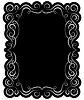 Векторный клипарт: черная рамка с элегантной границы