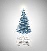 Векторный клипарт: Рождественский дизайн дерева