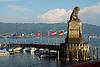 Hafeneinfahrt mit Wahrzeichen in Lindau | Stock Photo