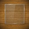 Glas-Rahmen und Holzstruktur