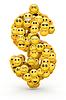 ID 4719498 | Emotikony znak dolara | Stockowa ilustracja wysokiej rozdzielczości | KLIPARTO