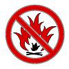 Векторный клипарт: Нет Огонь
