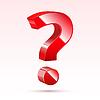 Векторный клипарт: красный вопросительный знак