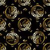 Schöne Pfauenfedern. Gold-Muster