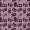 Audio cassette. Seamless pattern