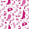 Векторный клипарт: Женская обувь. Бесшовные
