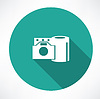 Filmrolle und Kamera-Symbol