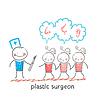 plastischen Chirurgen Patienten und hört auf ihre Wünsche