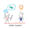 Schönheitschirurg denkt über Geld und Zuhören