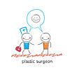 plastischer Chirurg sagt zu Patient `s und Gesichtschirurgie