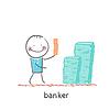 Bankier und viel Geld