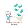 Bankier fängt net Dollar