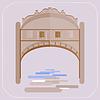 Venedig Seufzerbrücke. Gondoliere in Gondel. Symbol