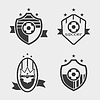 Set of soccer football crests and logo emblem