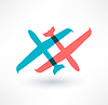 Flugzeugsymbol. Design logo