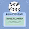 new york höchsten Gebäude icon Flach