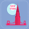 New York Chrysler Building icon Flach