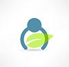 Eco Mann-Symbol. Logo Design
